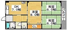 寺田マンション[3階]の間取り