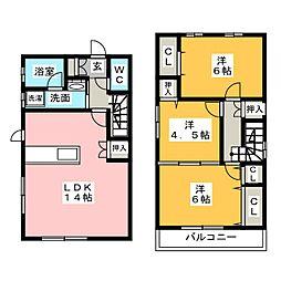 [一戸建] 愛知県名古屋市緑区西神の倉2丁目 の賃貸【愛知県 / 名古屋市緑区】の間取り
