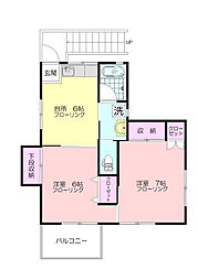 金子ハウス[2階]の間取り