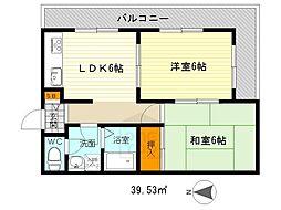 サンパレス桃山台2番館[4階]の間取り