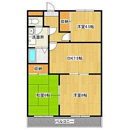 第二田口ビル[2階]の間取り