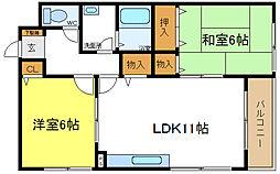 メゾン丹井[1階]の間取り