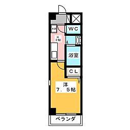 プルミエ千成[3階]の間取り