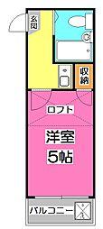 埼玉県新座市野火止8丁目の賃貸アパートの間取り
