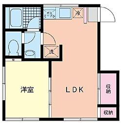 神奈川県横浜市泉区下和泉3丁目の賃貸アパートの間取り