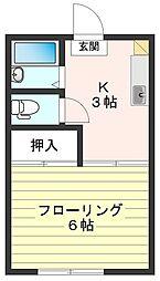 東京都国分寺市新町2丁目の賃貸アパートの間取り