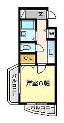 YKハイツ桜町[7階]の間取り