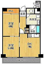ジャルダン宝塚中山台壱番館[4階]の間取り