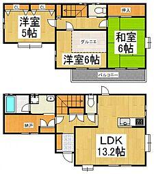 [一戸建] 東京都東大和市芋窪4丁目 の賃貸【/】の間取り