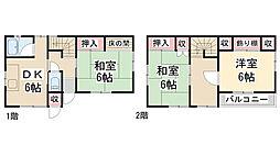 [一戸建] 兵庫県川西市東畦野3丁目 の賃貸【兵庫県 / 川西市】の間取り