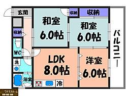 南埜第1マンション[1階]の間取り