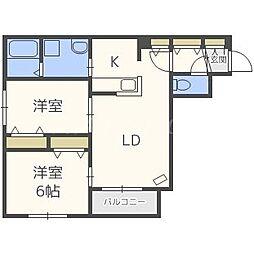 Seventh Couat Motomchi[2階]の間取り
