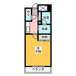 ハートフルマンション[1階]の間取り