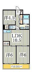 第3千代田マンション[4階]の間取り