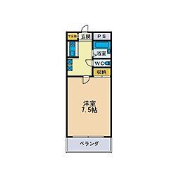 パルム松枝[1階]の間取り