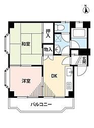 サンライズ藤沢[3階]の間取り
