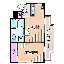DRホームズ大倉山[3階]の間取り