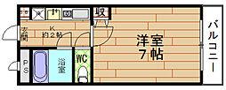 大阪府大阪市福島区野田5丁目の賃貸マンションの間取り