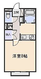 ABCフラッツB棟[1階]の間取り