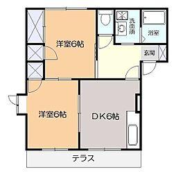 ビブレ湘南A[1階]の間取り
