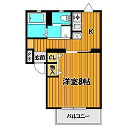 メゾンヤマト本町[105号室]の間取り