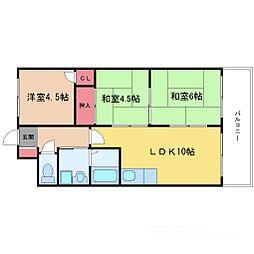 第2浦濱ビレッジ[3階]の間取り