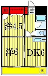 昭和コーポA棟[7階]の間取り