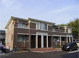 愛知県岡崎市百々町字七社の賃貸アパートの外観