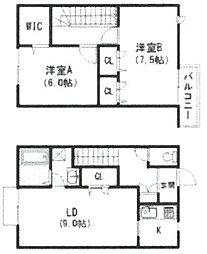 [テラスハウス] 兵庫県尼崎市塚口町6丁目 の賃貸【/】の間取り