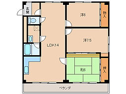メゾンドゥ高松[4階]の間取り