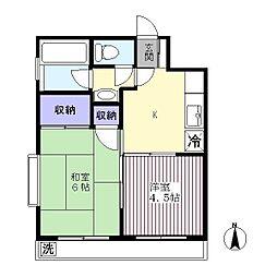 杉本マンション[302号室]の間取り