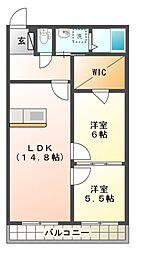 SANAEマンション[3階]の間取り