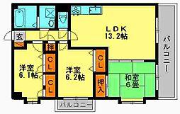 リバーサイドII[7階]の間取り