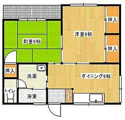 竹田コーポ[1階]の間取り