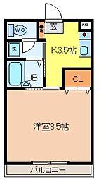 サンライフFUKAYA[306号室]の間取り