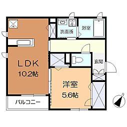 神奈川県大和市西鶴間3丁目の賃貸マンションの間取り