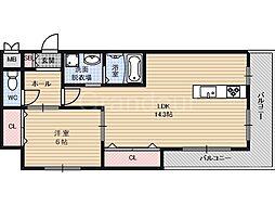 ウェルコート鶴見[3階]の間取り