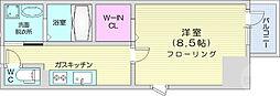 レガーロ仙台駅東 5階1Kの間取り