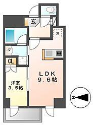 愛知県名古屋市東区矢田南2丁目の賃貸マンションの間取り