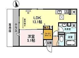 兵庫県明石市日富美町の賃貸アパートの間取り