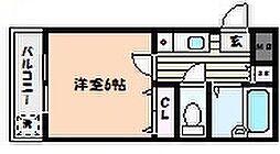 兵庫県神戸市東灘区住吉南町5丁目の賃貸マンションの間取り