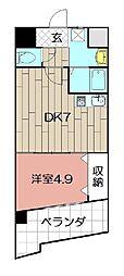 il Palazzo del Sole 3階1DKの間取り