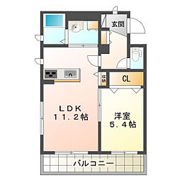 兵庫県神戸市垂水区潮見が丘1丁目の賃貸アパートの間取り