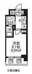 ハーモニーレジデンス新横浜 8階1Kの間取り