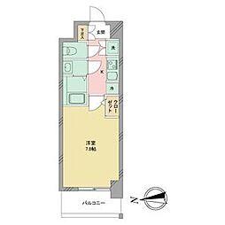 名古屋市営名城線 志賀本通駅 徒歩2分の賃貸マンション 4階1Kの間取り