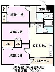 埼玉県川口市行衛の賃貸アパートの間取り