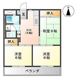 日新ビル[605号室号室]の間取り