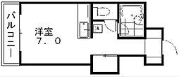サウスサイド[3階]の間取り