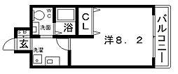 カッシア天王寺東[9階]の間取り