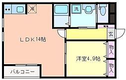 リッツハウス[203号室]の間取り